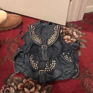 Topshop Denim Backpack